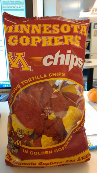 Gopher chips. by the queen of subtle on Flickr.