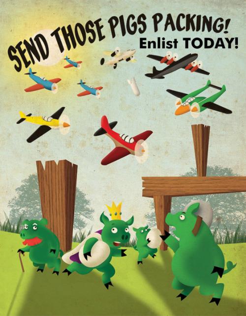 Angry Birds Propaganda Poster