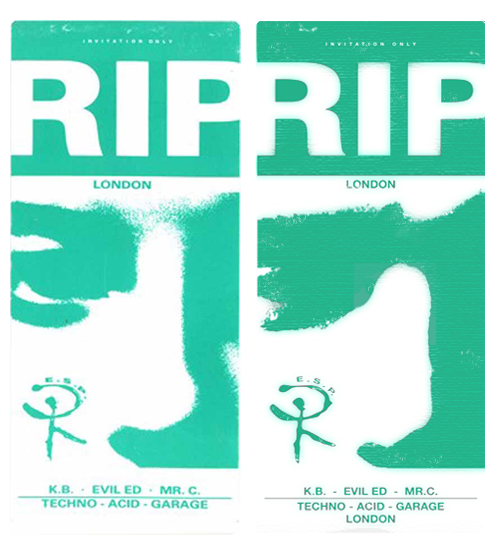 Clink Street-RIP [ original / remake ]  RIP flyer/front Clink St party Design, Rogan Jeans 1988 remakenothingbeginswithzero.tumblr.comRT 2011