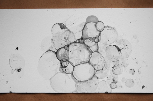 Bubble Drawing (each print is unique in size and design), ink and soapy water on paper, $150 $25!