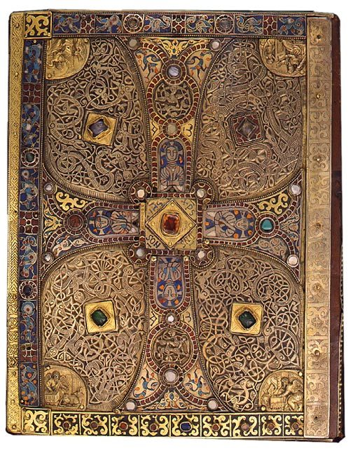 namopanik:  The lower cover of Lindau Gospel, 9th century.