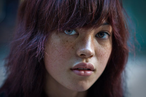 maxitendance:  Freckled Faced Redhead.