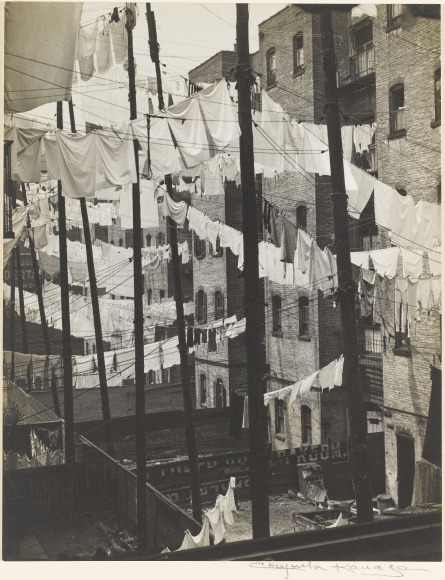 yama-bato:  Consuelo Kanaga (American, 1894-1978) Untitled (Tenements, New York), c. 1937 Gelatin silver print 7 11/16 x 6 1/16 in. (19.5 x 15.4 cm) The Jewish Museum, New York Purchase: The Paul Strand Trust for the benefit of Virginia Stevens Gift, 2008-69 Digital image © 2008 The Jewish Museum, New York Photo by Ardon Bar Hama
