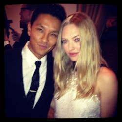 Prabal Gurung with Amanda Seyfried at the CFDA/Vogue Fashion Fund Awards last night!
