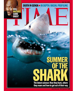 Being on the Cover of TIME — Three Times - Top 10 Unforgettable Shark Moments - TIME