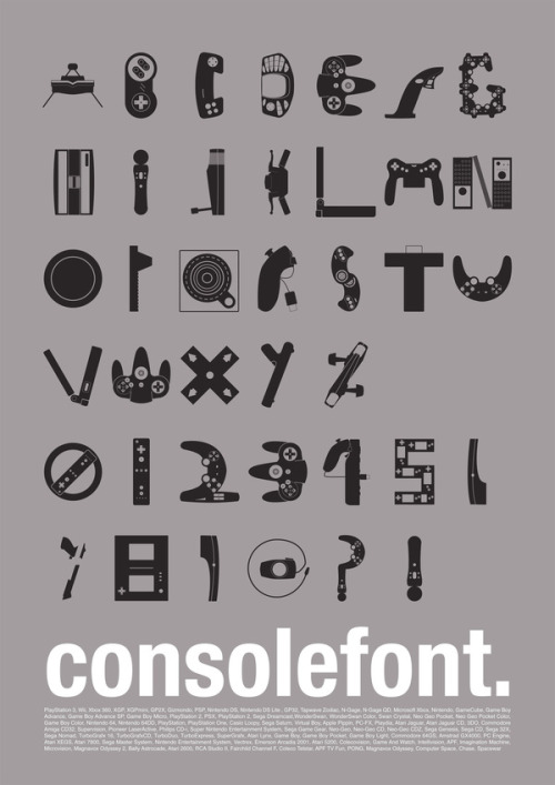 it8bit:  Console Font - by Varun Vachhar Buy the poster at imagekind, and download the font here.
