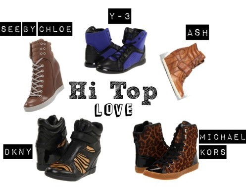 Hi-Top/Wedge Sneakers