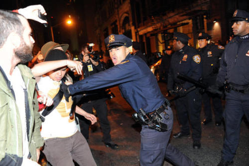 villagevoice:  So, Occupy Wall Street got raided last night and it looks like Graham Rayman knew about it before anyone else — he had a copy of the NYPD mobilization order last night at 7:45 that called for 432 cops to head to the scene. Rosie Gray was there and has a full recap.  We've also got photos from the eviction and an explanation from Mayor Bloomberg that this was his decision and his decision only.   THANKS FOR THE MEMORIES OWS seriously though this has been wild.