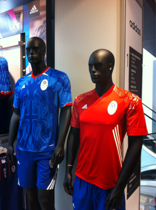 Great Britain Supporter Kits spotted at the Adidas Store on Oxford Street in London. Sadly they aren't Sick.   -DJ