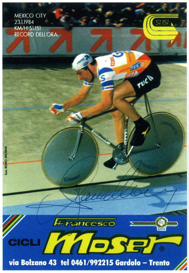 Francesco Moser poster found on Velonews' profile of the book Italian Racing Bicycles.