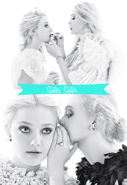 IT'S THE TIME OF YOUR LIVES. I found these photos of Elle and Dakota Fanning in the December issue of W just precious. Makes me want to call my sister.