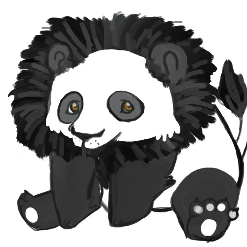 I doodled this up for my bff awhile back. Mixing up a Lion and a Panda. I still find it ridiculously adorable every time I see it in my folders.