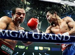 siphotos:  Manny Pacquiao lands a right hand against Juan Manuel Marquez during the  WBO welterweight title fight in Las Vegas. Pacquiao won by majority  decision. GALLERY: Pacquiao vs. Marquez, Part III MANNIX: Who will Pacquiao fight next?VIDEO: Time for a Pacquiao-Marquez rematch?