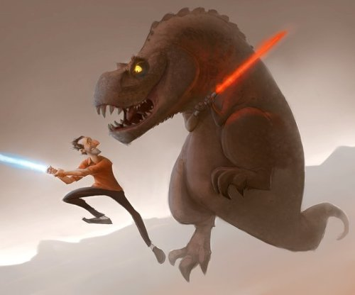 Darth Rex by Sam Nielson  A dream I had about being chased by a dinosaur that countered everything I threw at him. I hate him.