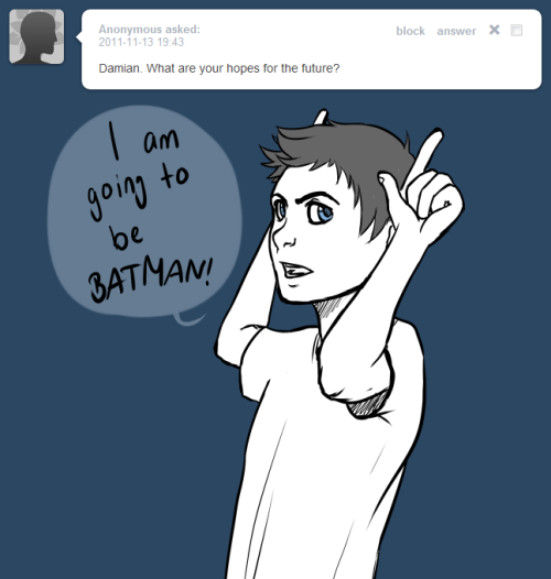 askdickanddamian:  Damain: It's obvious.