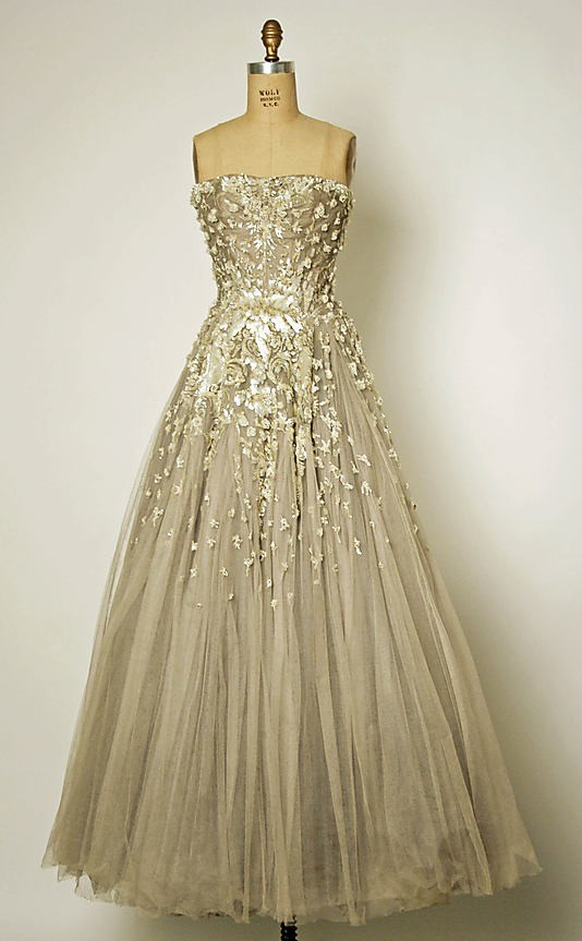 Vintage Dior 1954 - What an amazing wedding dress that would be!