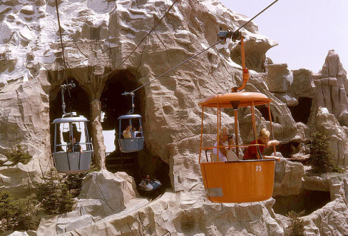 letallestbucheron:  skyway to fantasyland & matterhorn, disneyland.  I am old enough to remember these, and the fear of heights too.