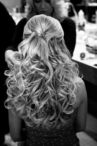 If you're looking for a half-up/half-down hair style for your wedding, this is just perfect!