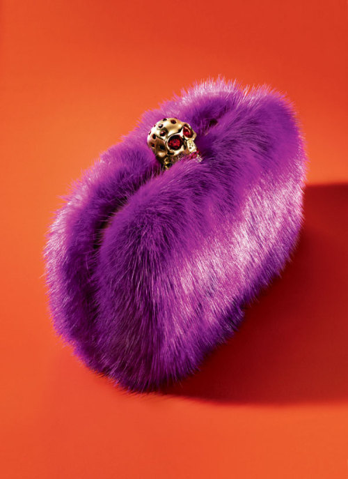 McQueen mink box clutch. Fear not.