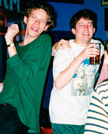 some-atoms:  David Mitchell and Robert Webb at university.  The El Dude Brothers