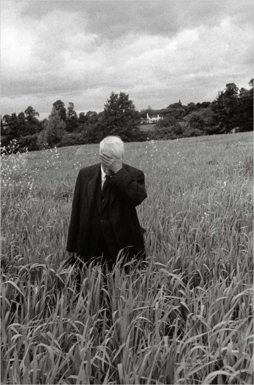 Robert Frost Standing in Oxford Field with His Hand Over His Face, 1957 Howard Sochurek