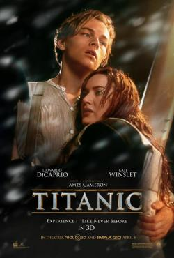 This is going to be weird. But we're totally going to see it. Right? (Titanic 3D poster)