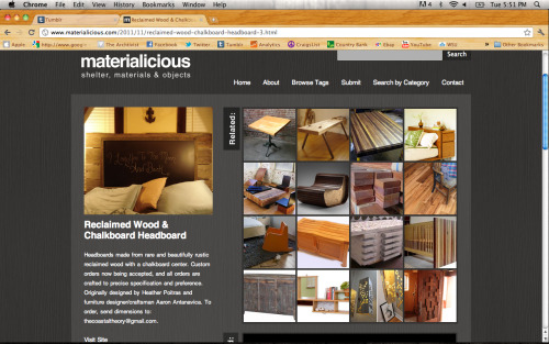 thearchtivist:  New furniture featured on Materialicious today! Order yours today!