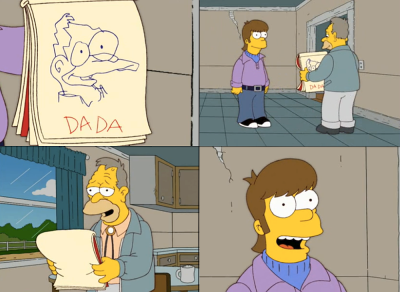 Homer: I drew this picture of you!Abe: Aww, it's beautiful! - S17E10, Homer's Paternity Coot