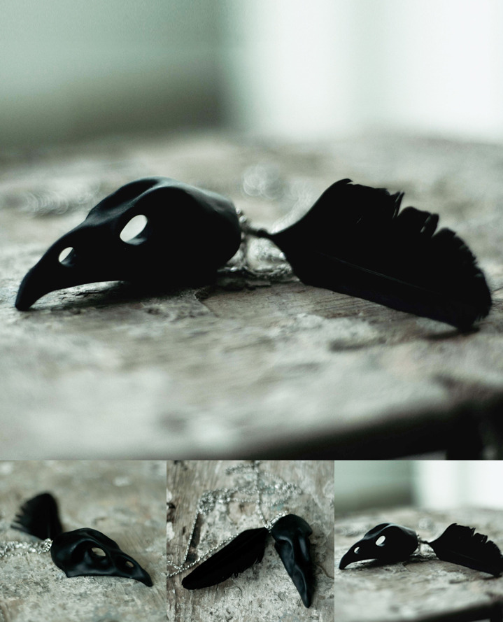 legendeurbaine:  Os Accessories Bird Skull Necklace