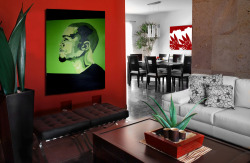 lounge preview. J.Cole oil painting On sale now