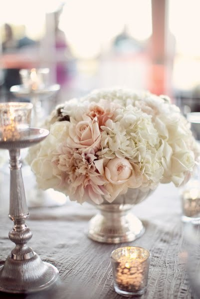 vintage wedding table flowers, lovely