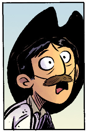 Multiversity Comics has a handy Movember guide defining what each mustache in REED GUNTHER means. My favorite is Sterling's full body 'stache.