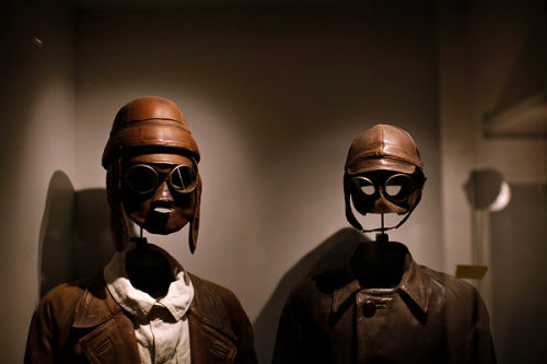 itwonlast:  First World War anti-shrapnel face masks on display at the Museum of the Great War  I am totally freaked out by these- not in the least because I can't imagine how awful the place is that would require one to walk around in anti-shrapnel face masks…shudder…