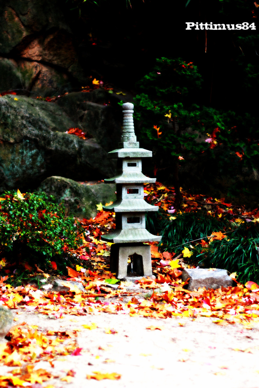 Statue in the Japanese Garden at Maymont