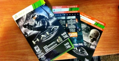 "Picked up my copy of HALO:CE:ANNIVERSARY… And the nice folks at EB Games (Gamestop for my Murican friends) accidentally sold me a pre-sale copy! Came with- 2 day Gold Live pass- Anniversary Mappack DLC- Master Chief avatar armor- ""grunt funeral"" skull (Grunts explode like a plasma grenade when killed) I didn't go as ""all out"" for this release as I have for past releases. For #'s 2+3 I didn't sleep until the game was finished, for ODST I threw a big LAN party, and for Reach I went to the midnight madness sale. Maybe because this is just a re-release…maybe cause I'm sick…but I'll be playing as much as possible, picking apart each part of the game as much as possible. If you want to see the difference between the two, just check this out…"