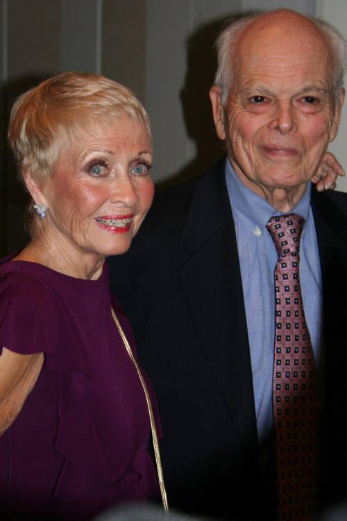 Jane Powell w/ husband (and former Our Gang star) Dickie Moore at the Walter Reade Theater on 11/15/2011.