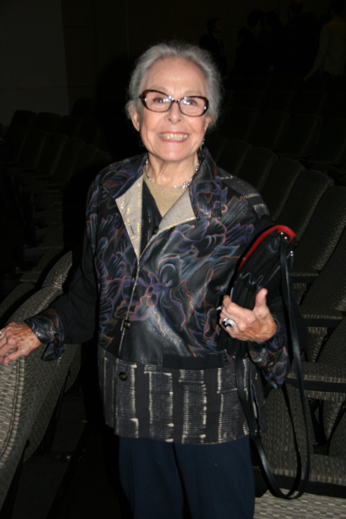92-year-old dancer Marge Champion after a screening of Two Weeks with Love (1950) at the Film Society of Lincoln Center on 11/15/2011.