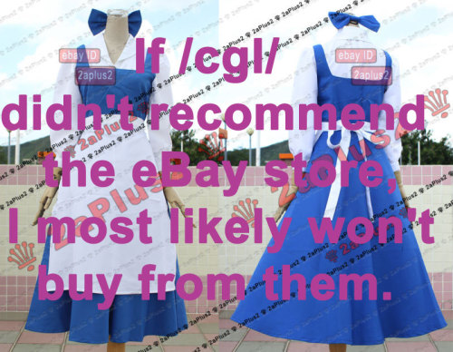 """If /cgl/ didn't recommend the eBay store, I most likely won't buy from them."""