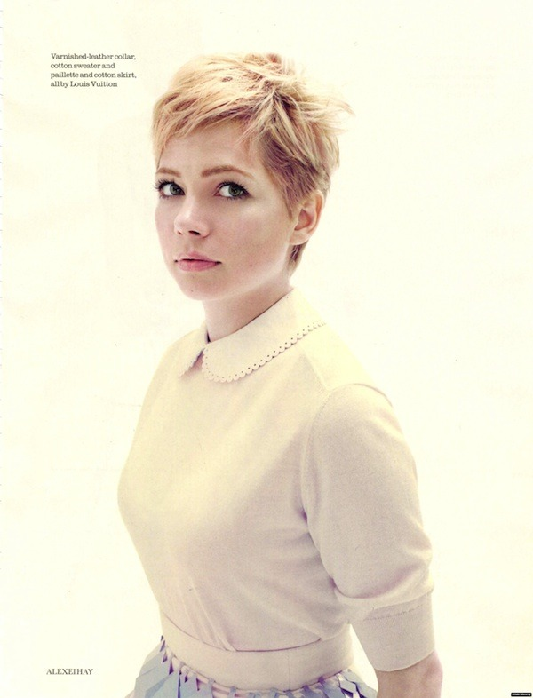 michelle williams for elle uk by alexei hay, december 2011.