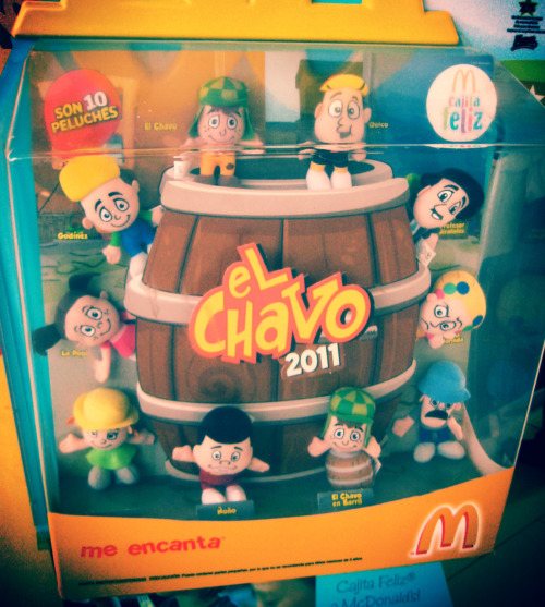 """El Chavo Del Ocho"" Happy Meal toys spotted at the McDonalds in Metro Center, San Salvador."