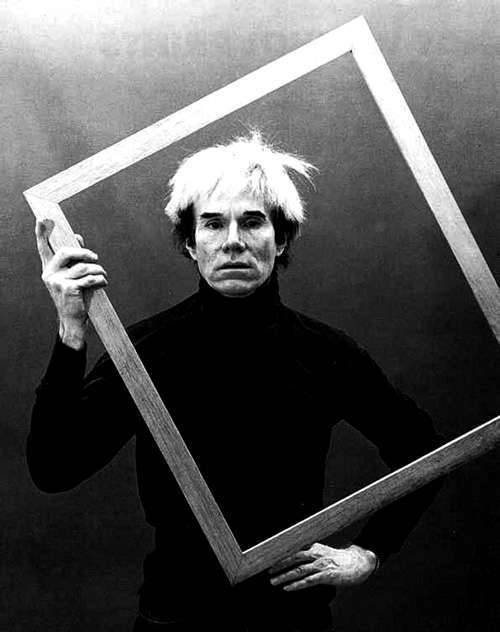 Warhol in his studio.