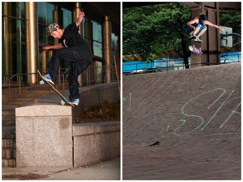 Flashback Friday   Left: Bobby Izzo Front-Blunt Queens 2009. Right: Jackson Hennesey Switch-Heel, NYC 2009.