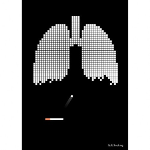 This is an anti-smoking campaign reportedly by ReClark Gable. Deleongames even made an actual brickbreaker game inspired by that image, which you can play here. Nice!