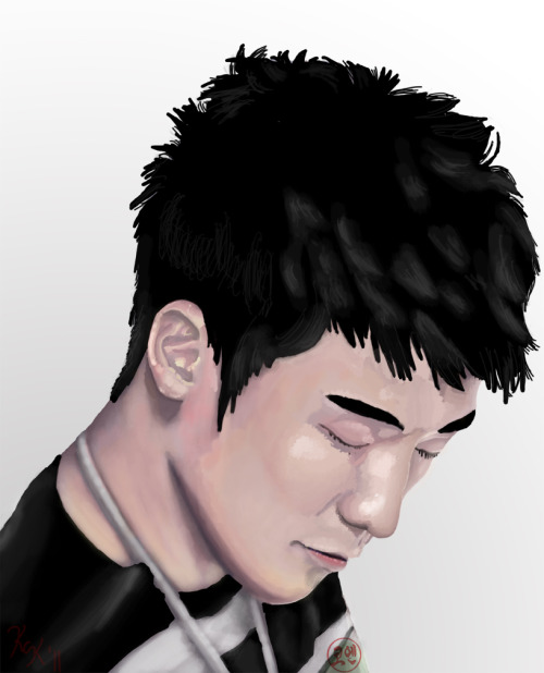 askseungri:  I created this portrait of Seung Ri for my Digital Painting final assignment.  Pleased with how it came out.  Though it looks better printed. :-P lol.  Oh well…figured my followers would enjoy. ^^  woaaa~ ^^b