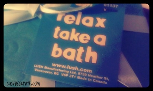 Relax Take a Bath wrapped gift