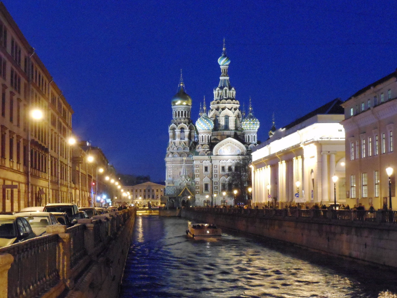 Храм Спаса на Крови ночью (Church of the Savior on Spilled Blood at Night) St. Petersburg, October 2011