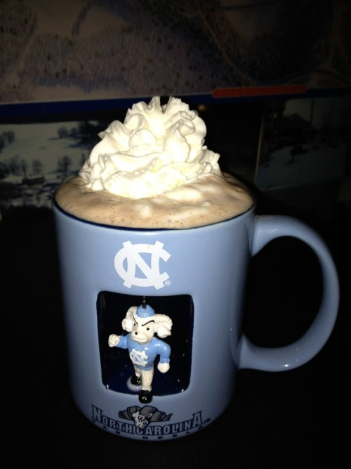 Hot chocolate with whipped cream…put me on the perfect mind set while writing my novel!