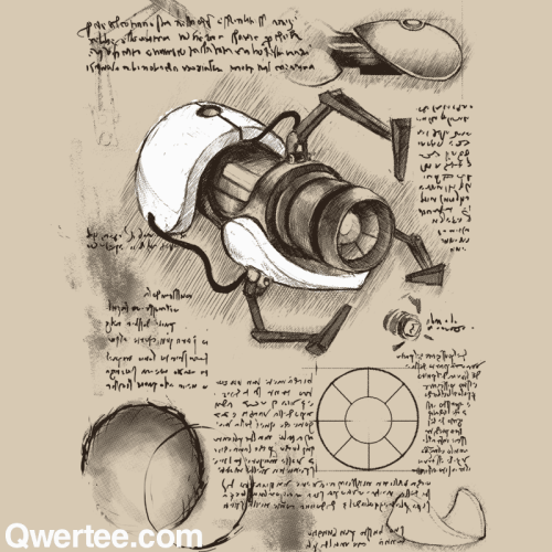 "Qwertee: ""Aperture Science Handheld Portal Device"" by kdeuce."