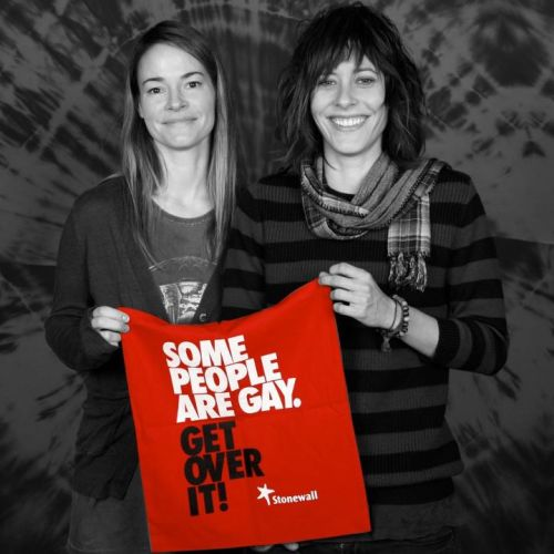 Leisha Hailey & Kate Moennig http://www.stonewall.org.uk/