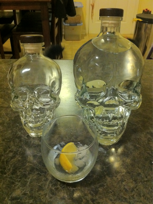 26er and a 60 of Crystal Head. Too good.